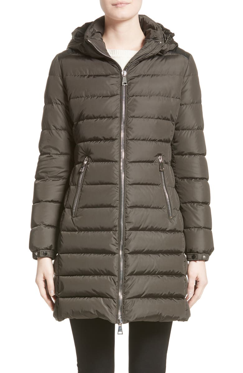 MONCLER Orophin Hooded Down Puffer Coat, Main, color, OLIVE