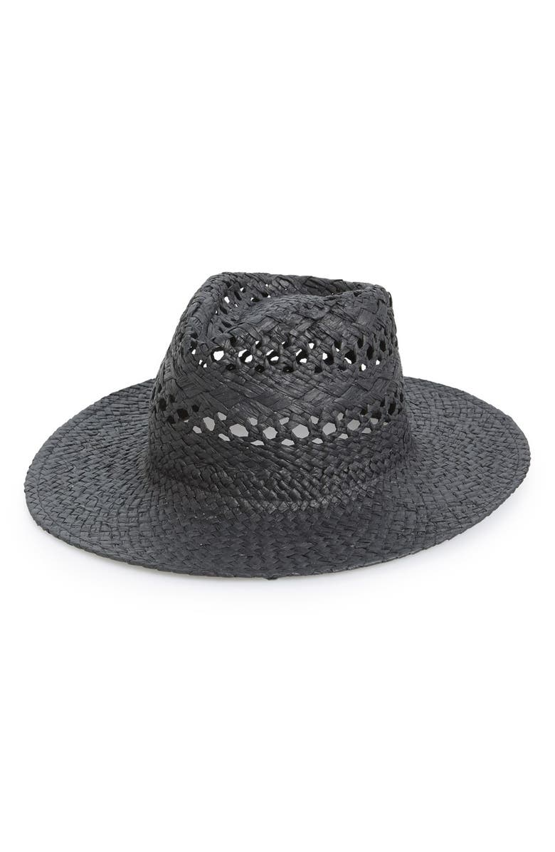 TILDON Straw Fedora, Main, color, 001