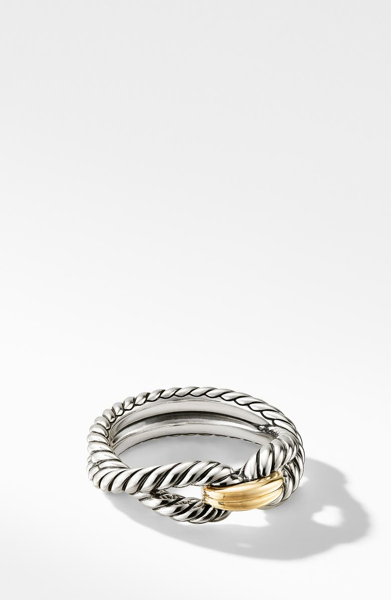 DAVID YURMAN Cable Loop Ring with 18K Gold, Main, color, YELLOW GOLD/ STERLING SILVER