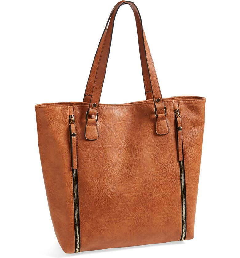 T-SHIRT & JEANS Faux Leather Tote, Main, color, 222