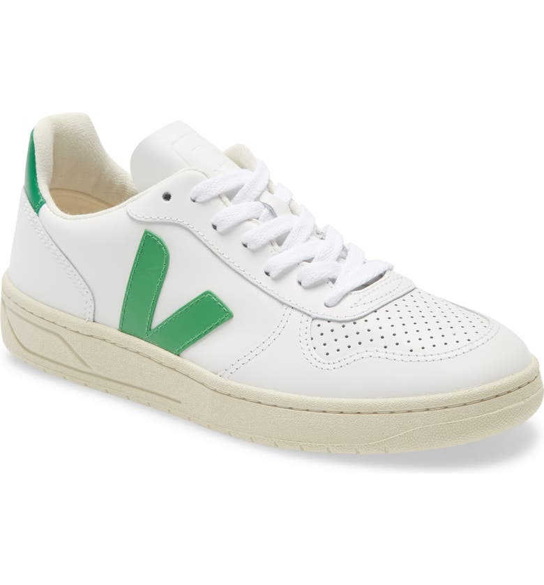 VEJA V-10 Sneaker, Main, color, EXTRA WHITE LEAF