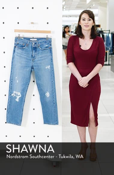 Wedgie Ripped Straight Leg Jeans, sales video thumbnail