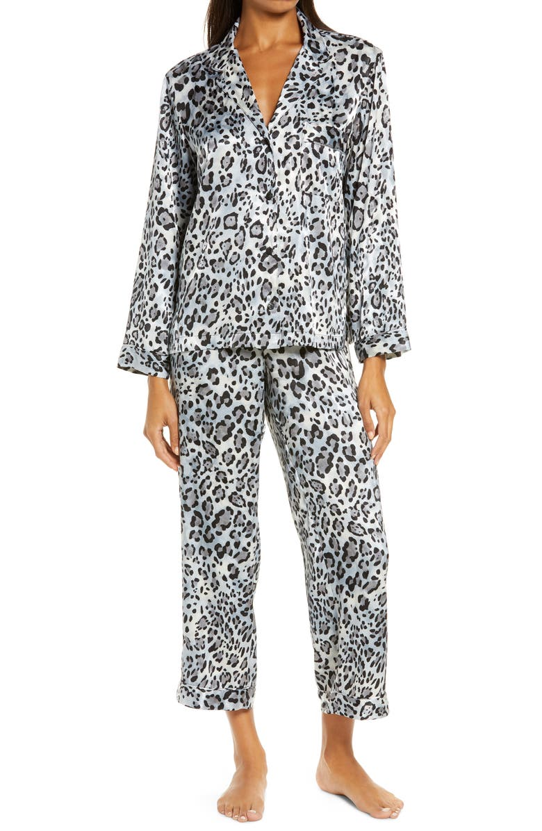 NATORI Cheetah Print Pajamas, Main, color, MINK