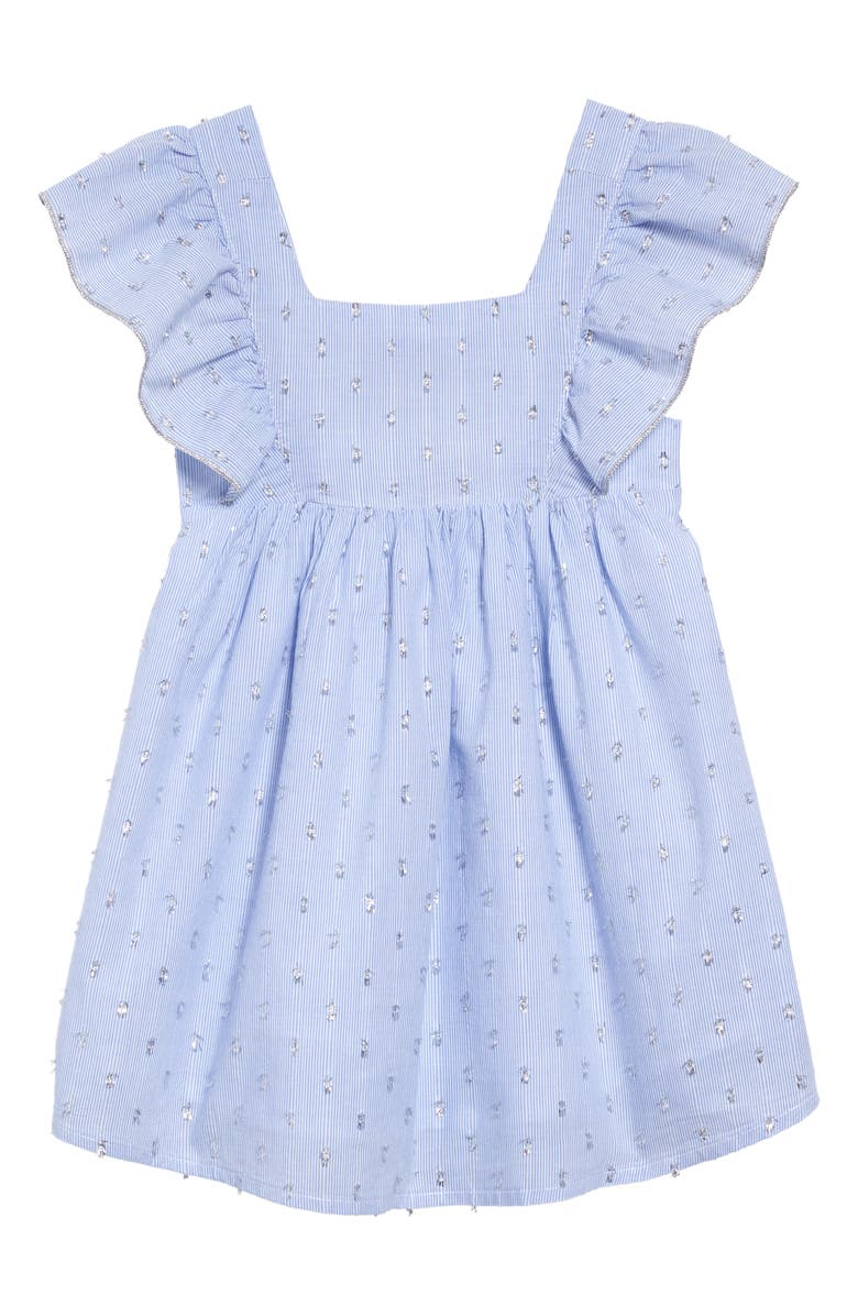 PEEK ARENT YOU CURIOUS Carie Apron Dress, Main, color, CHAMBRAY