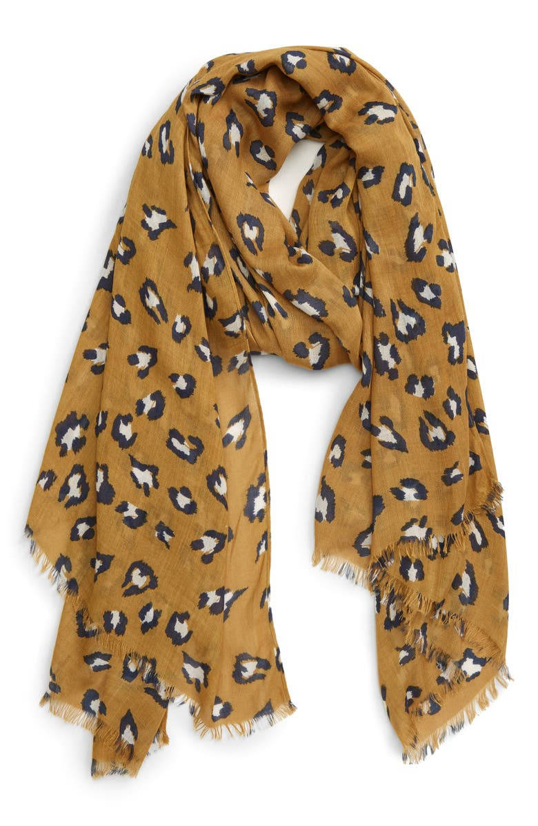SOLE SOCIETY Leopard Print Scarf, Main, color, 700