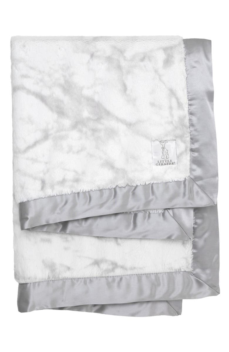 LITTLE GIRAFFE Luxe<sup>™</sup> Marble Baby Blanket, Main, color, 020