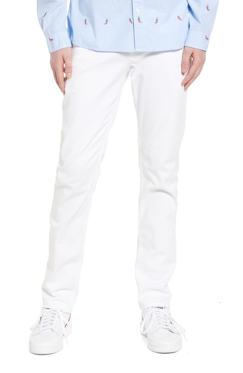 TOMMY JEANS Scanton Slim Fit Jeans, Main, color, OPTICAL WHITE