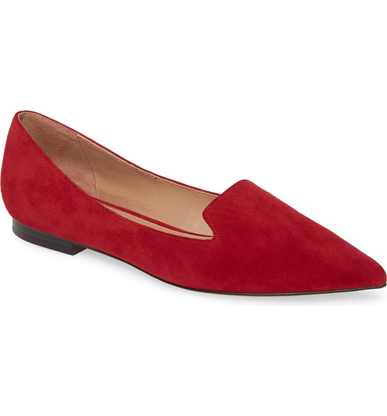 LINEA PAOLO Portia Loafer, Main, color, RED SUEDE