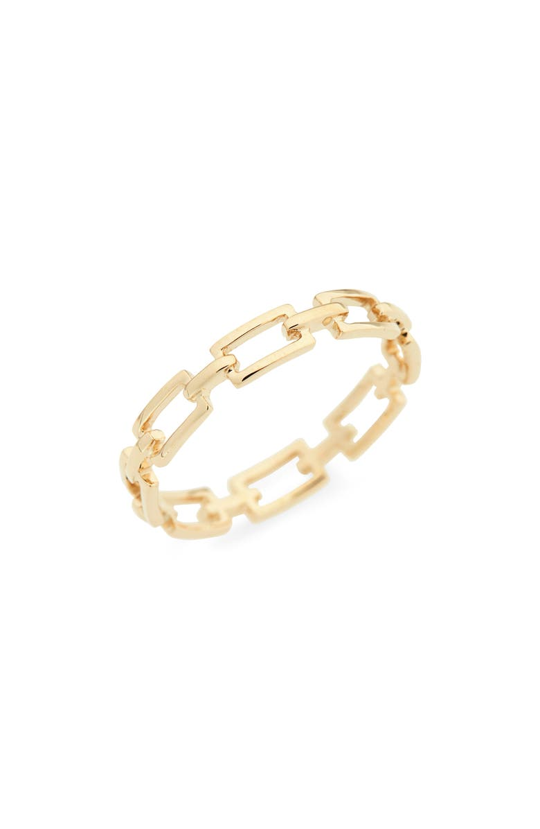 BONY LEVY 14K Gold Link Stacking Ring, Main, color, YELLOW GOLD