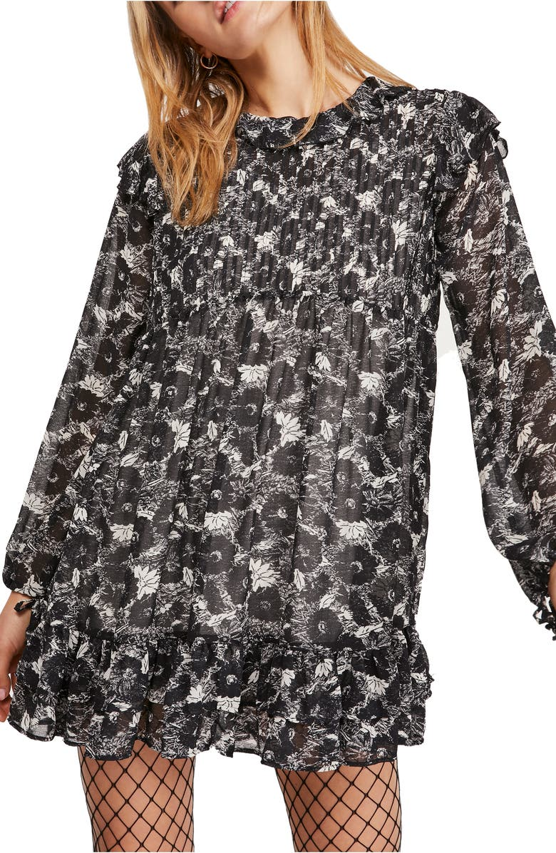 FREE PEOPLE These Dreams Long Sleeve Minidress, Main, color, 001