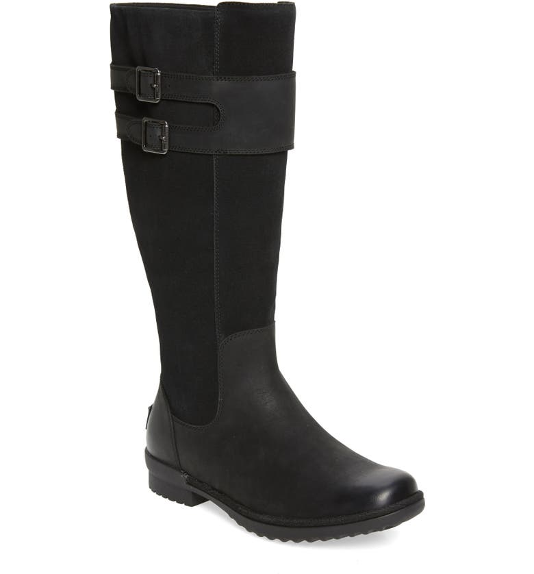 UGG<SUP>®</SUP> Zarina Waterproof Boot, Main, color, BLACK SUEDE