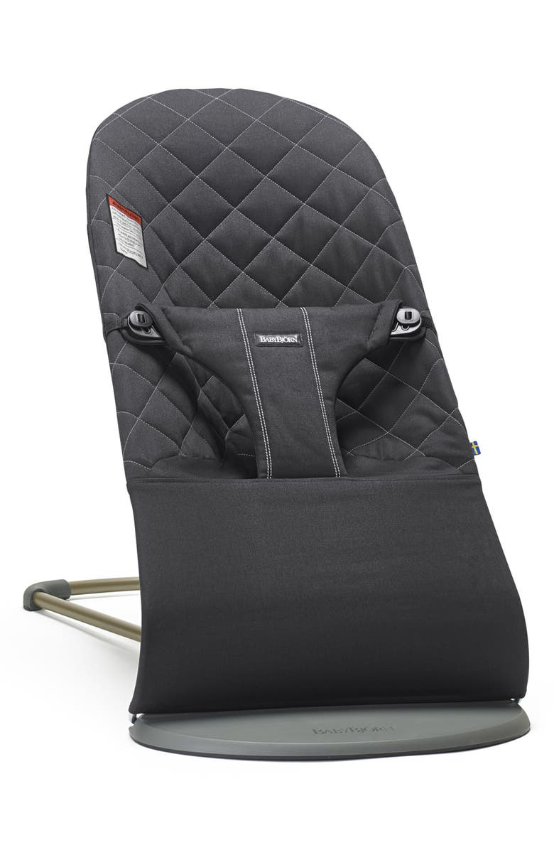 BABYBJÖRN Bouncer Bliss Convertible Quilted Baby Bouncer, Main, color, Black