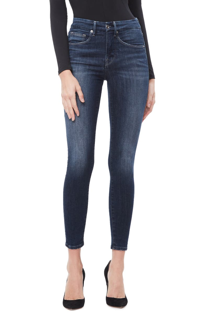 GOOD AMERICAN Good Legs Ankle Skinny Jeans, Main, color, BLUE260