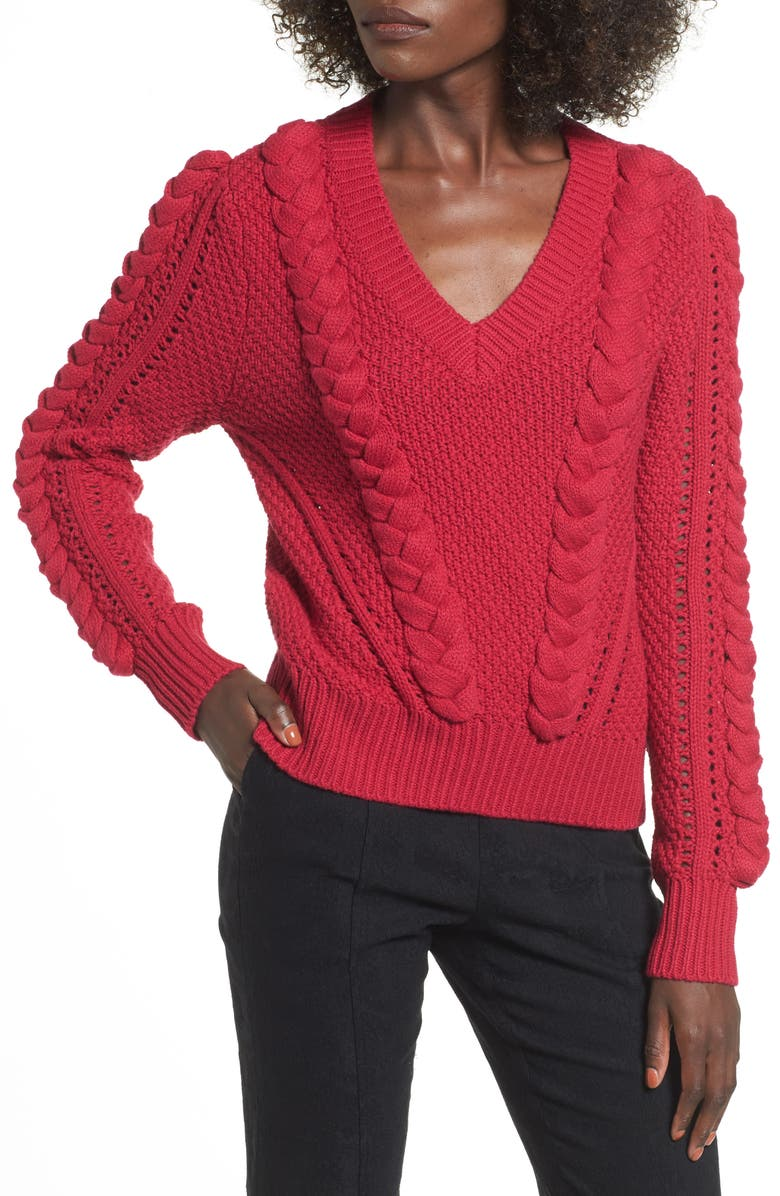 LEITH Power Cable Sweater, Main, color, 601