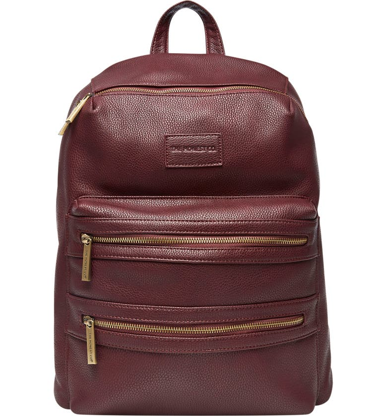 THE HONEST COMPANY 'City' Faux Leather Diaper Backpack, Main, color, 500
