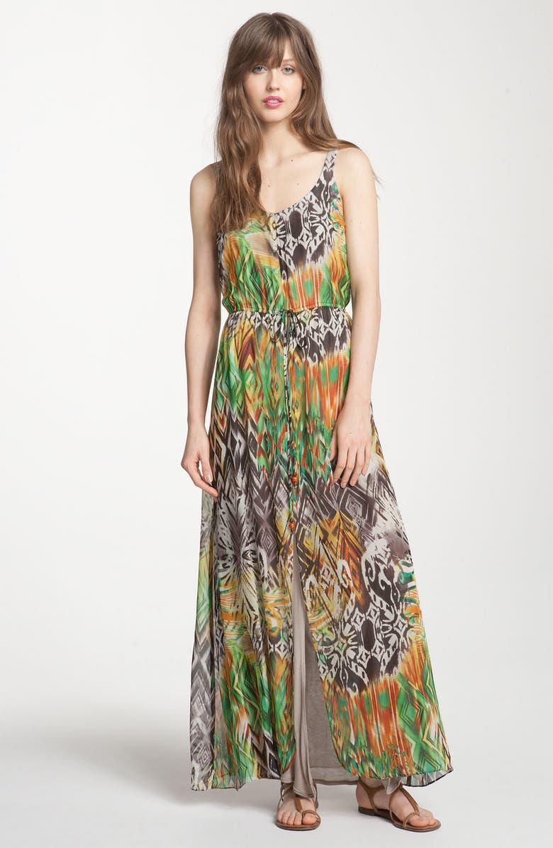 ZZDNU WILLOW & CLAY Willow & Clay Print Maxi Dress, Main, color, 353