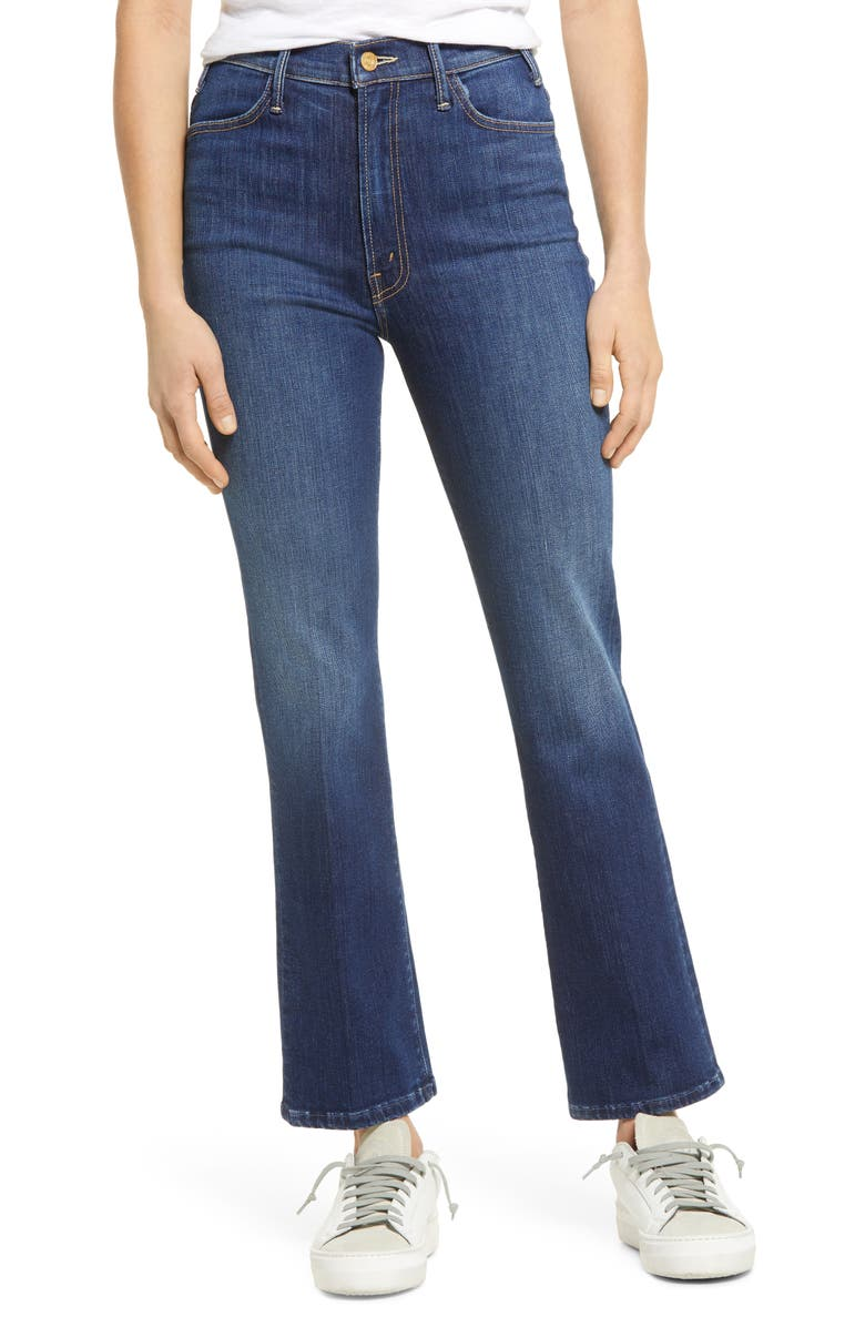 MOTHER The Hustler High Waist Ankle Bootcut Jeans, Main, color, PERFECTLY YOU