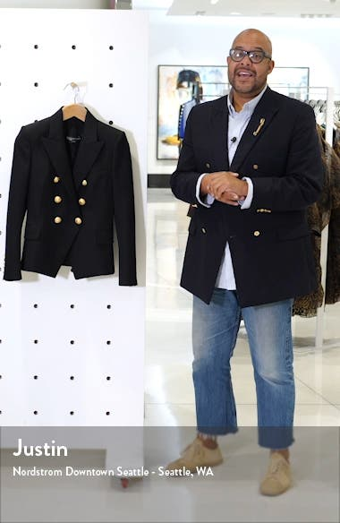 Double Breasted Wool Blazer, sales video thumbnail