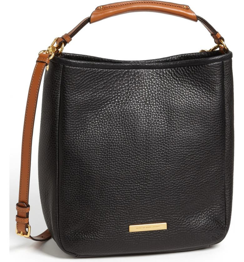 MARC JACOBS MARC BY MARC JACOBS 'Large Softy Saddle' Leather Hobo, Main, color, 001