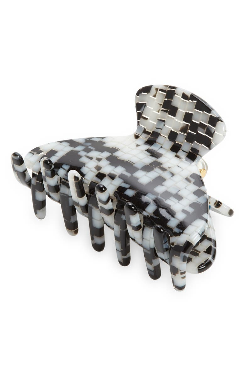 MADEWELL Large Claw Hair Clip, Main, color, BLACK/ WHITE MOSAIC