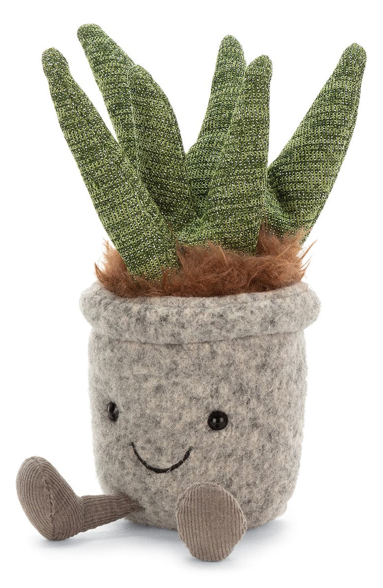 JELLYCAT Silly Succulent Aloe Plush Toy, Main, color, 300