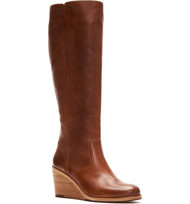 FRYE Emma Knee High Wedge Boot, Main, color, 231