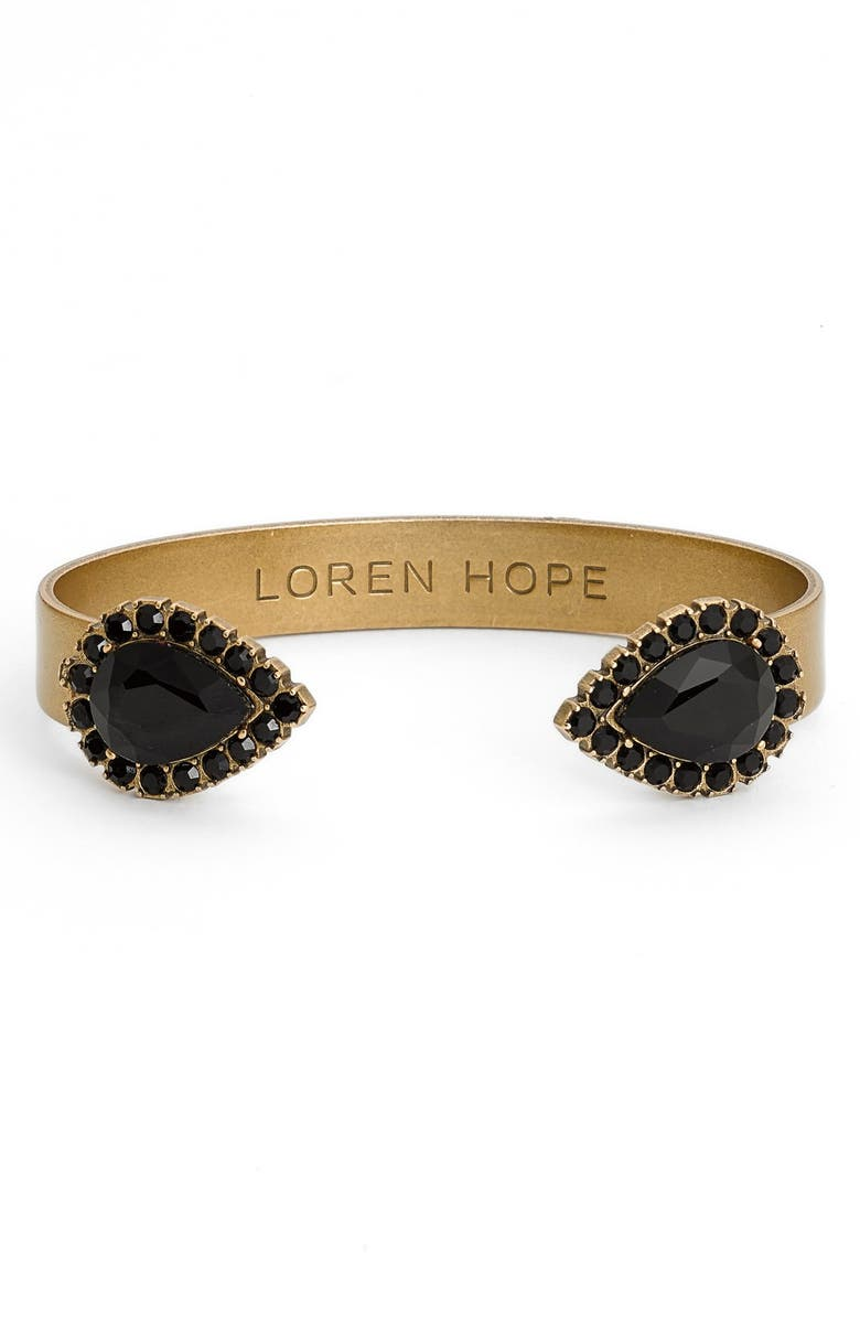 LOREN HOPE 'Sarra' Crystal Cuff, Main, color, 001