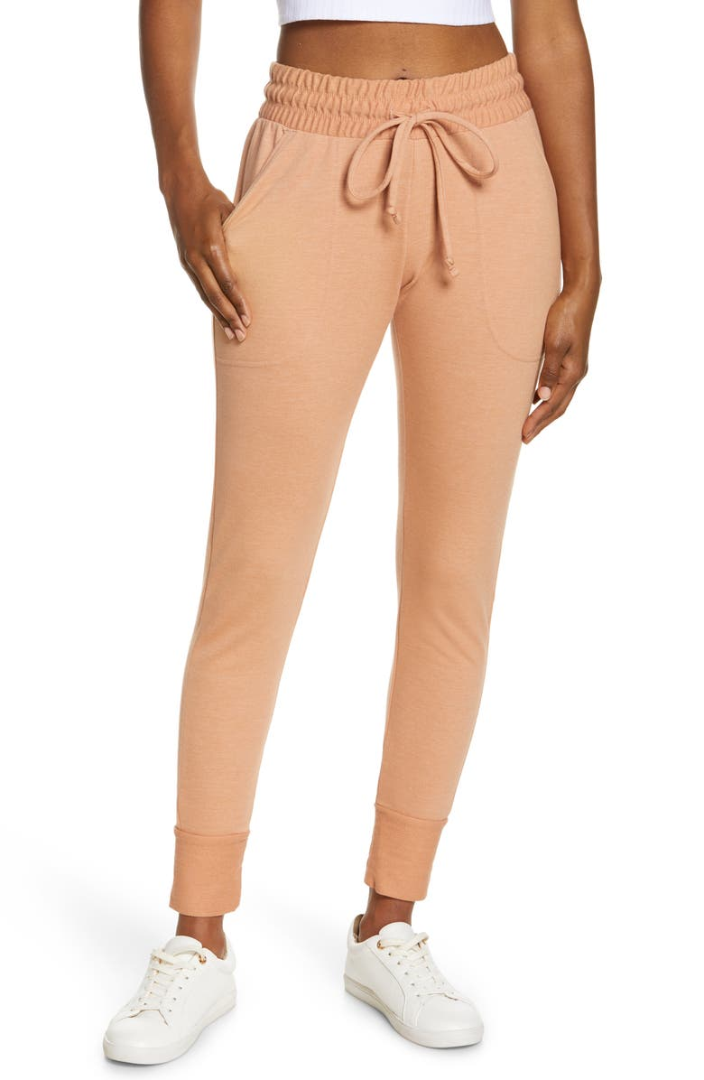 FREE PEOPLE FP MOVEMENT Sunny Skinny Sweatpants, Main, color, SUNBAKED