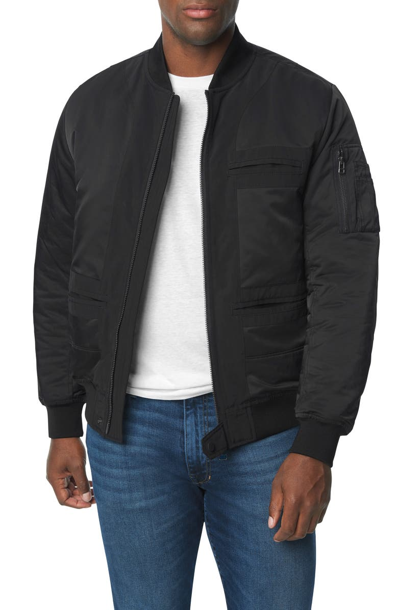 JOE'S Inside Out Bomber Jacket, Main, color, STRETCH LIMO