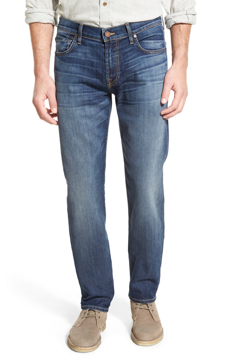7 FOR ALL MANKIND 'Slimmy - Luxe Performance' Slim Fit Jeans, Main, color, AIR WEFT COMMOTION