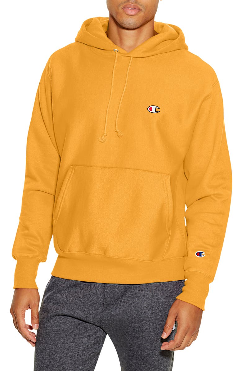 CHAMPION Reverse Weave<sup>®</sup> Pullover Hoodie, Main, color, GOLD