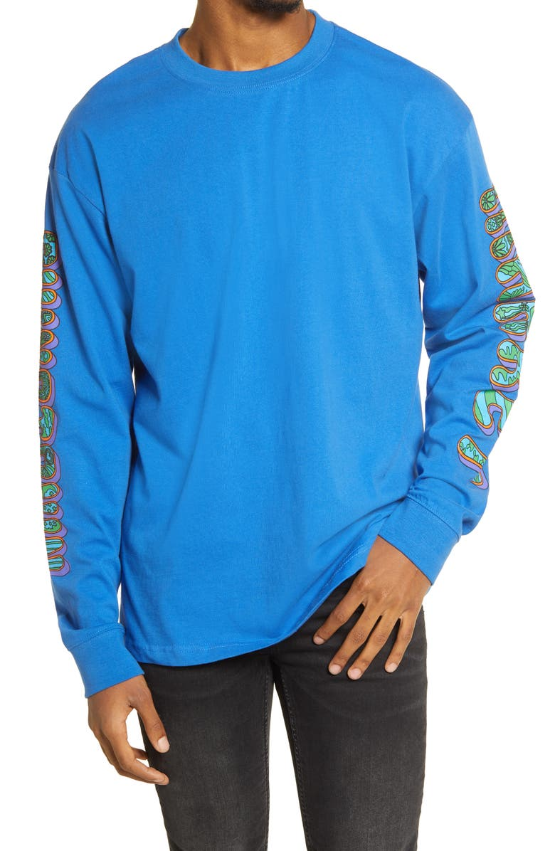 CHINATOWN MARKET Men's Hippie Long Sleeve Graphic Tee, Main, color, Blue