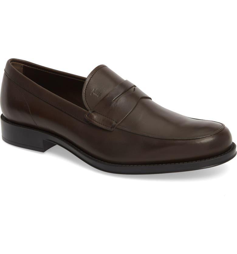TOD'S Penny Loafer, Main, color, BROWN