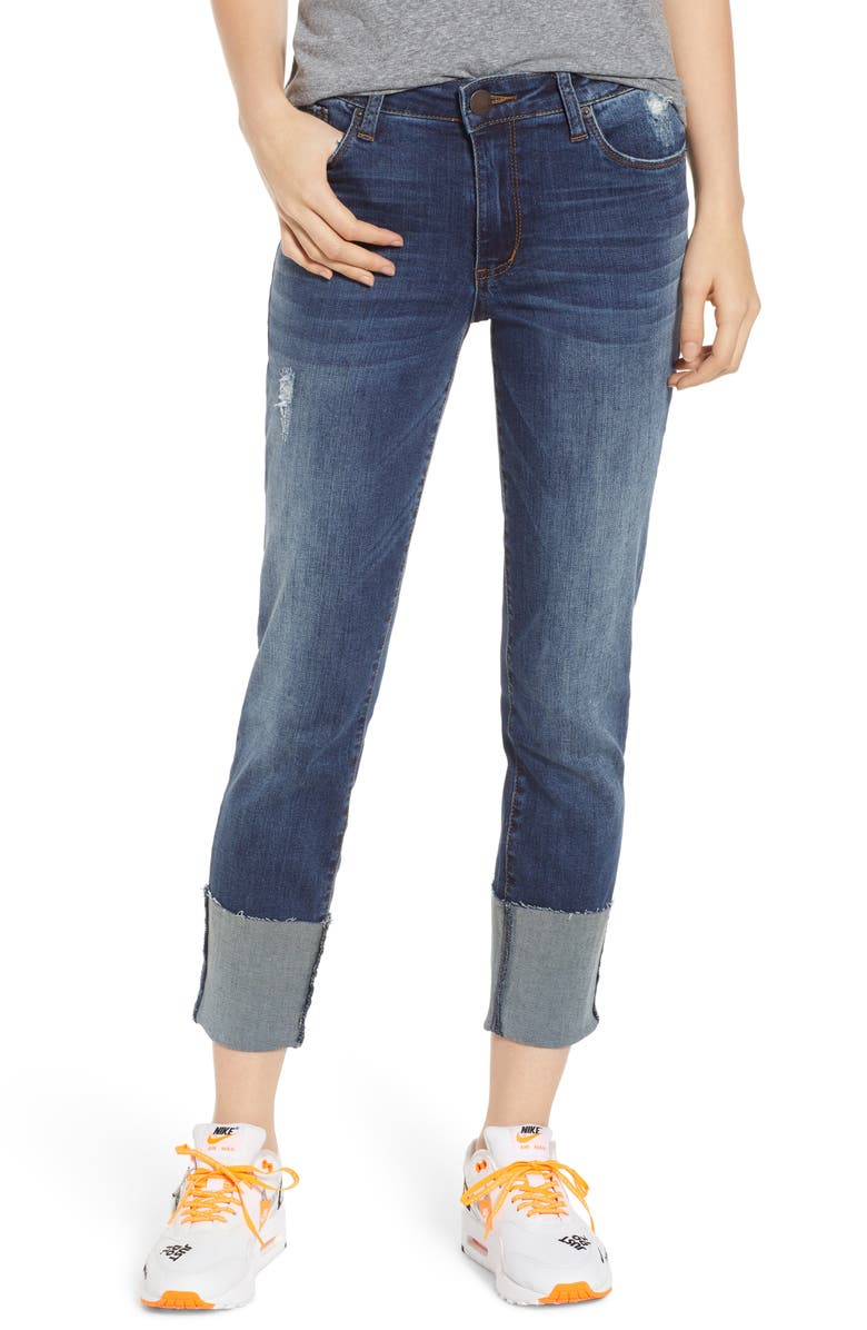 STS BLUE Lucia Cuffed Straight Leg Jeans, Main, color, 400