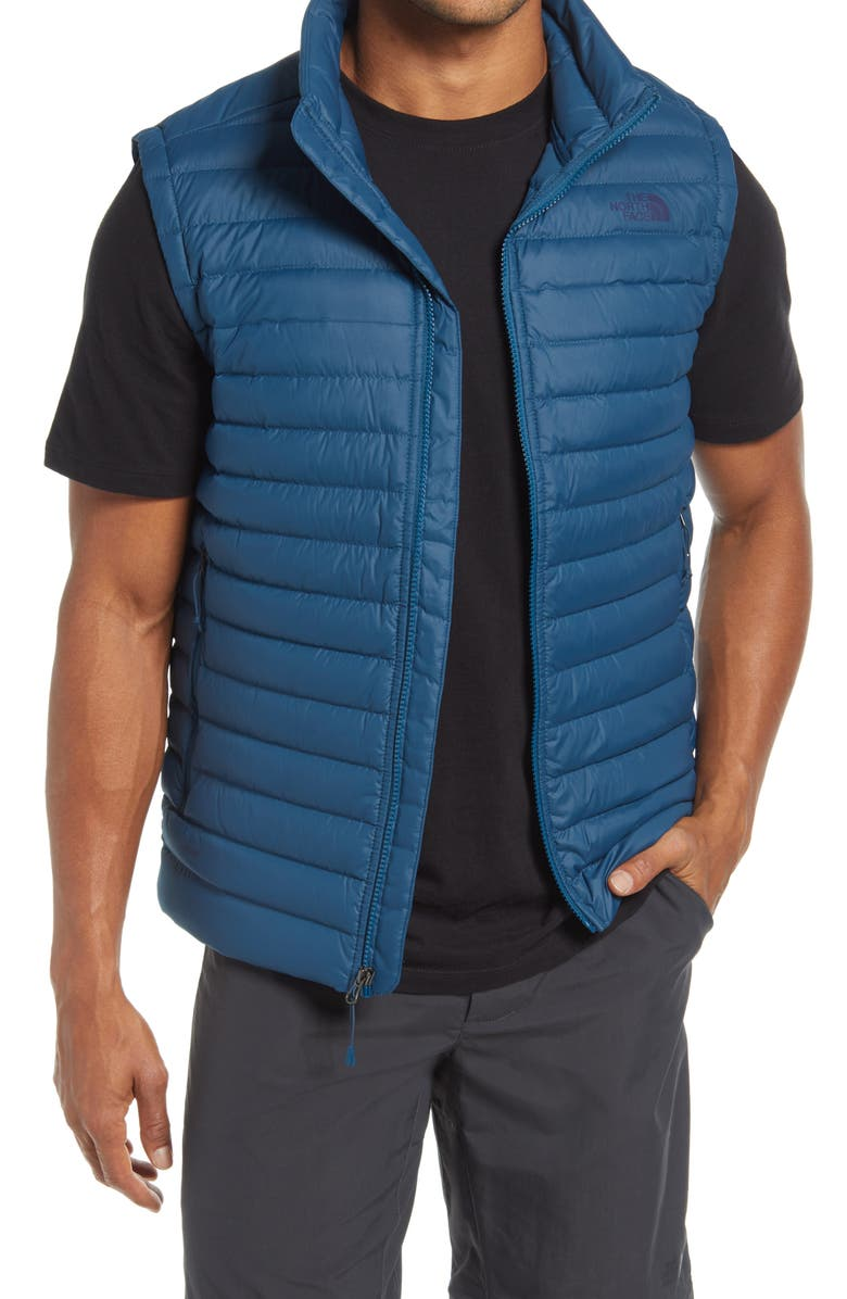 THE NORTH FACE Stretch Slim Fit Packable Water Repellent 700-Fill Power Down Vest, Main, color, MONTEREY BLUE