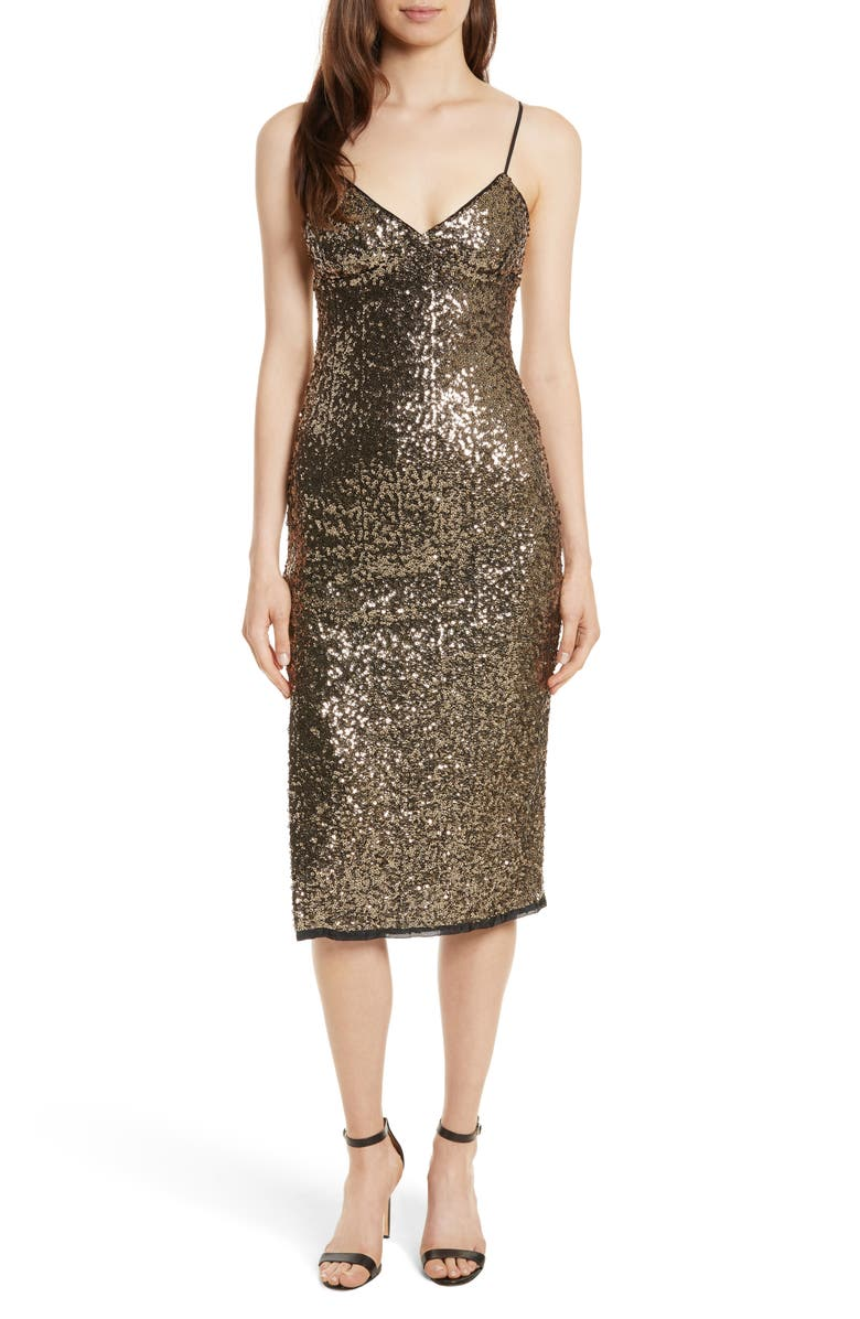 MILLY Alexis Sequin Camisole Dress, Main, color, 260