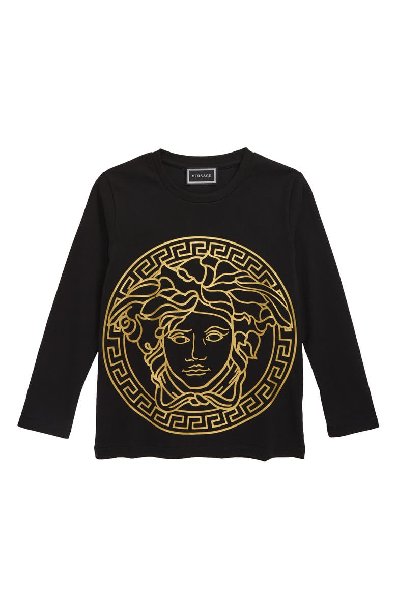 VERSACE Medusa Logo T-Shirt, Main, color, 001
