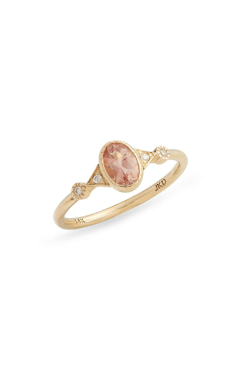 JENNIE KWON DESIGNS Sunstone Duo Deco Ring, Main, color, YELLOW GOLD