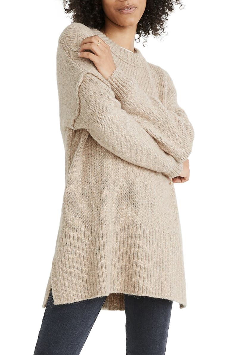MADEWELL Baxer Sweater Tunic, Main, color, 250