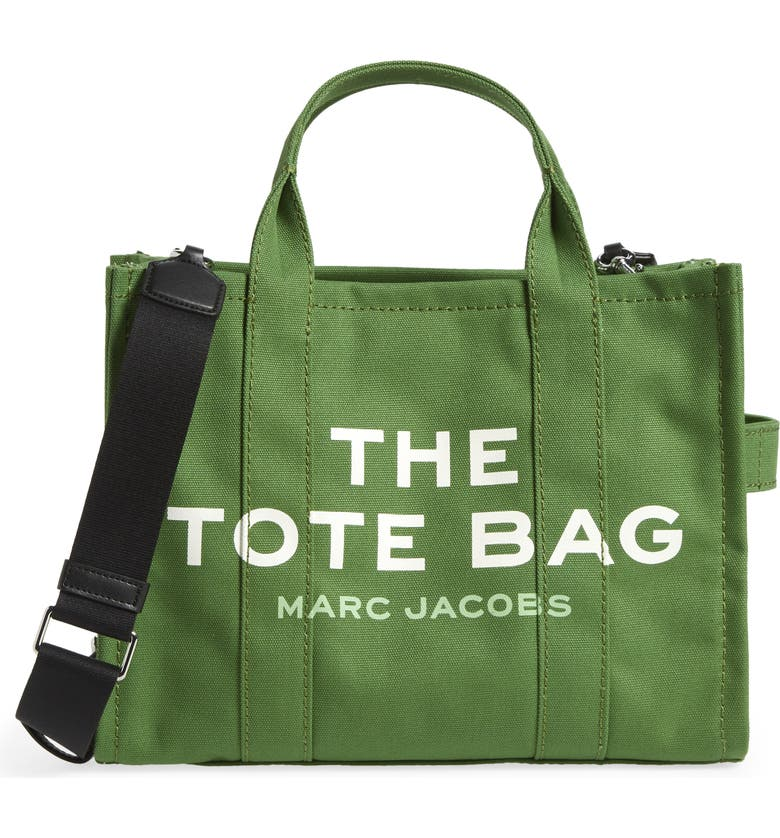 MARC JACOBS Small Traveler Canvas Tote, Main, color, ALOE