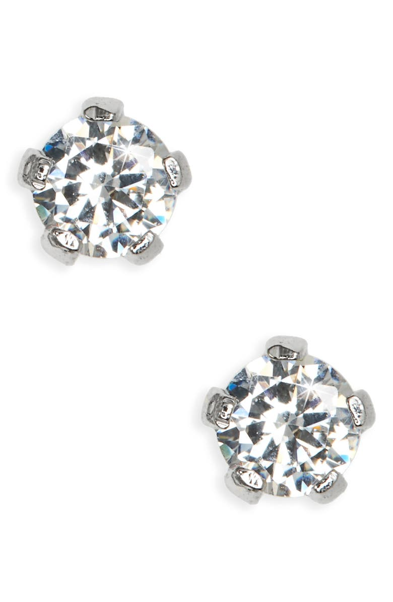 MIGNONETTE Sterling Silver 3mm Earrings, Main, color, Silver
