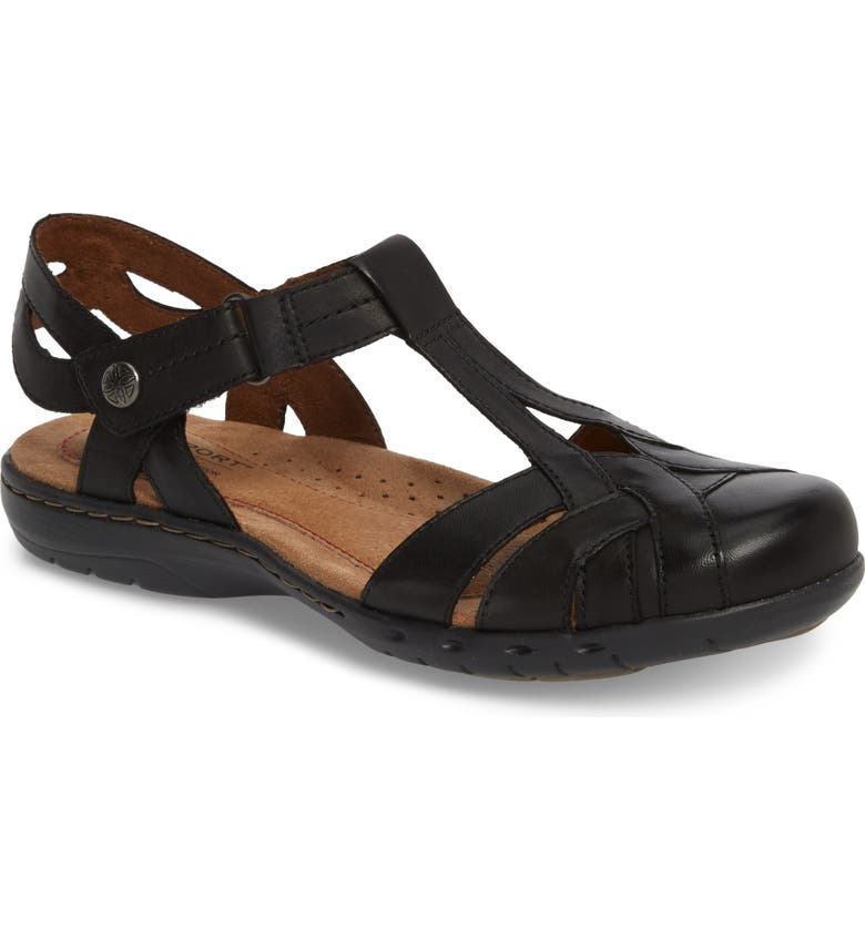 ROCKPORT Cobb Hill Penefield T-Strap Sandal, Main, color, 001