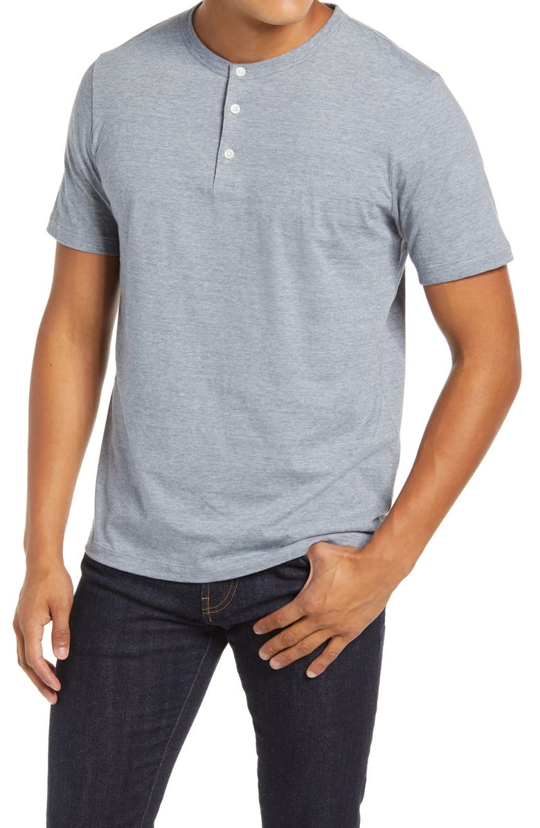 THEORY Slim Fit Knit Henley, Main, color, AIR FORCE MULTI