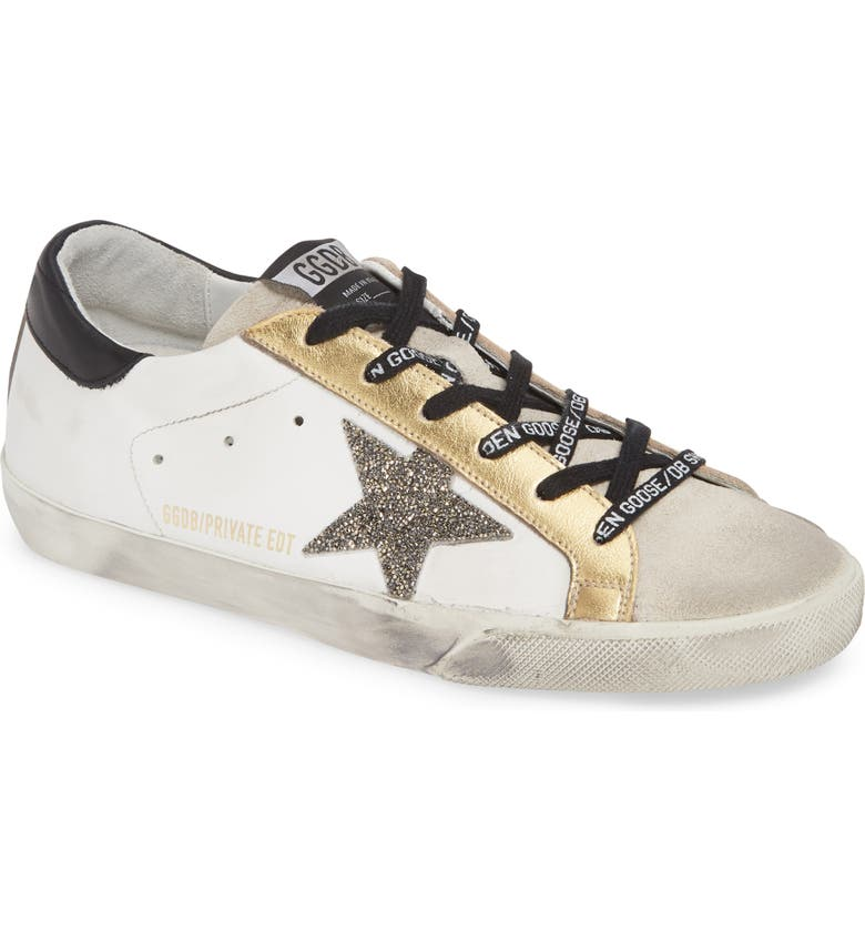 GOLDEN GOOSE Superstar Low Top Sneaker, Main, color, 100