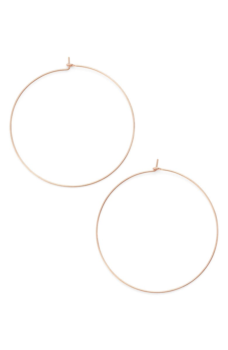 NASHELLE Extra Large Hoop Earrings, Main, color, ROSE GOLD