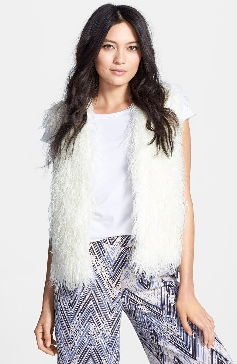 MURAL Shaggy Faux Fur Vest, Main, color, 110