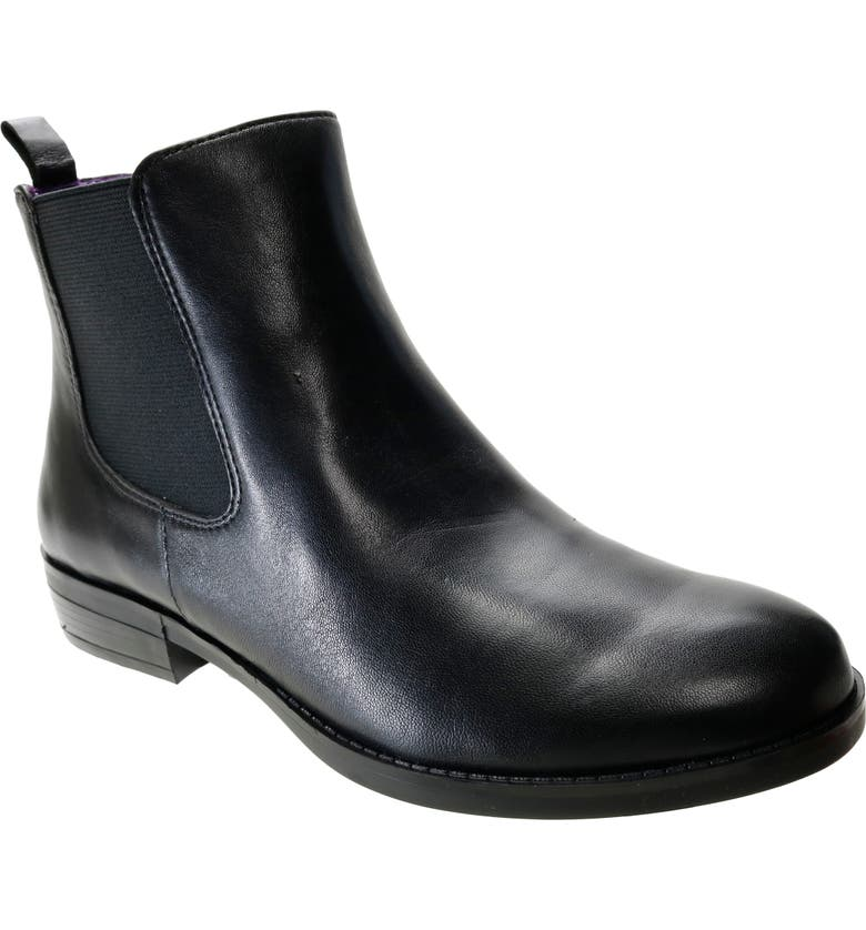 DAVID TATE Golden Chelsea Boot, Main, color, BLACK LEATHER