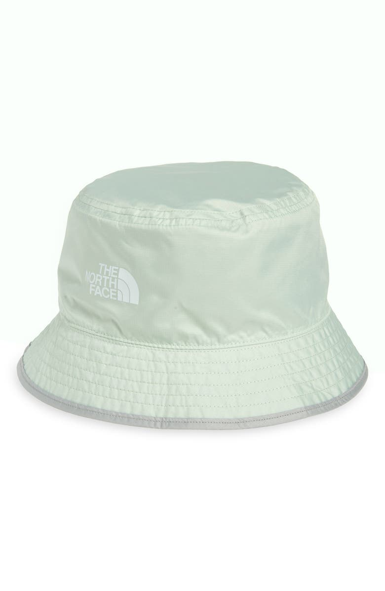 THE NORTH FACE Sun Stash Packable Bucket Hat, Main, color, GREEN MIST/ WROUGHT IRON