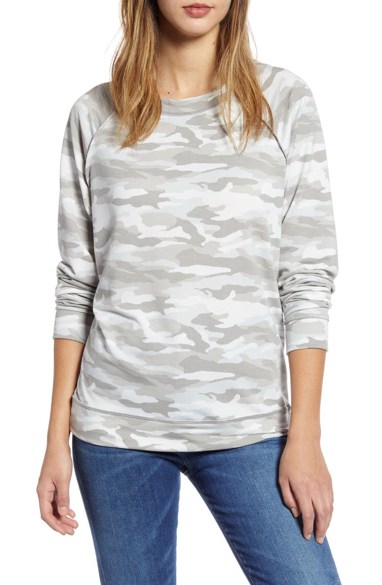 CASLON<SUP>®</SUP> Cozy Print Top, Main, color, 050
