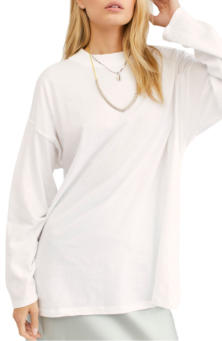 FREE PEOPLE We the Free by Free People Be Free Tunic T-Shirt, Main, color, WHITE